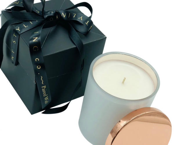 Rose Gold Christmas candle