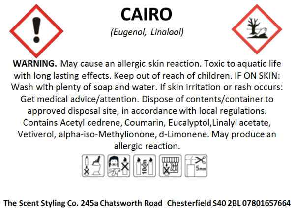 clp for allergens and warnings