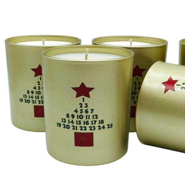 christmas countdown candle
